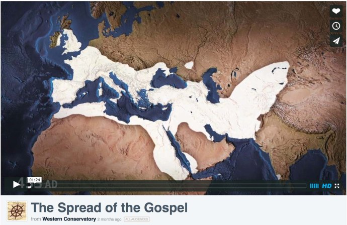 video map The Spread of the Gospel screenshot