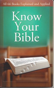 book cover - Know Your Bible